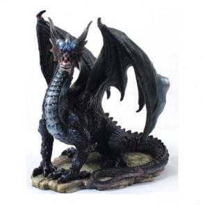 figurine dragon noir heroic fantasy collection