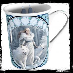 Winter guardian - Mug fantasy et loups - Tasse Anne Stokes