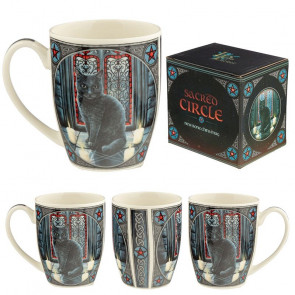 boutique vente mug motif chat noir lisa parker sacred circle