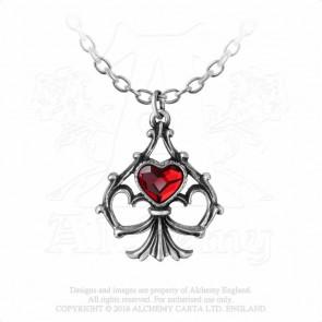 Lucky In Love - Pendentif coeur - Alchemy Gothic