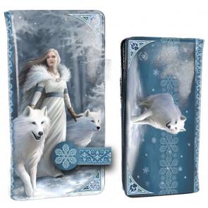 boutique accessoire mode porte monnaie motif illustrée loups blancs licence anne stokes
