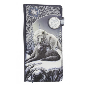 Snow kisses - Portefeuille embossed - Loups - 18.5cm