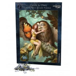Puzzle fée - James Ryman - Fairy owl - 1000 pièces