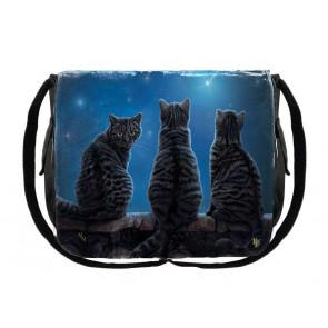 boutique lisa parker france vente sacs besace motif chats noirs Wish upon a star