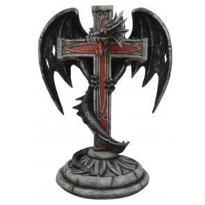 boutique vente objet déco dragon heroic fantasy statuette croix templier