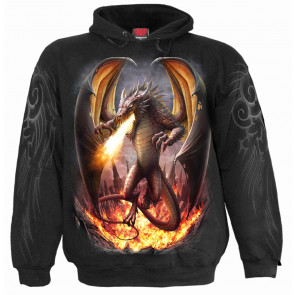 boutique vetement motif dragon sweat shirt pour homme draco unleashed