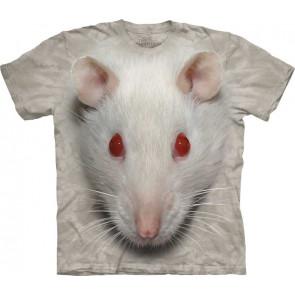 t-shirt the mountain tete de rat blanc