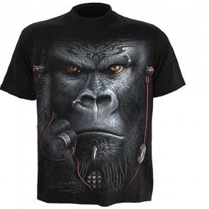 boutique vente tee shirt manches courtes motif gorille devolution spiral