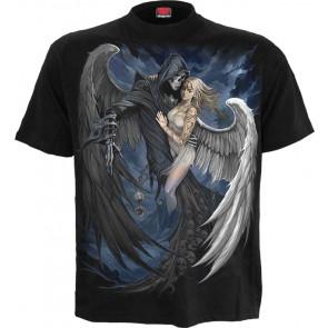 boutique vetement vente tee shirt motif anges gothique couple spiral manches courtes fallen