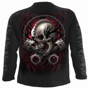 Soul rider - Tee-shirt homme - Squelette motard - Spiral