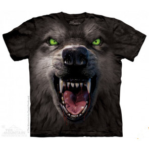 boutique vente de tee shirts anilmaux motif loup the mountain