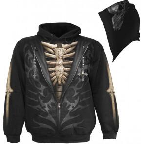 Unzipped - Sweat shirt squelette - Spiral - Homme
