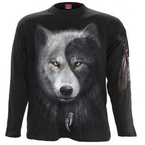 Wolf chi - T-shirt homme loup noir gris blanc