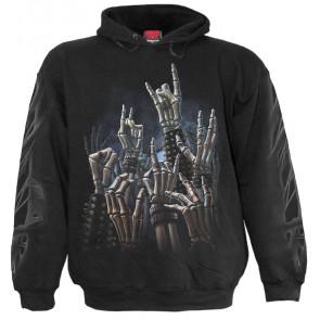 Rock on - Sweat shirt homme - Rock  metal Squelette