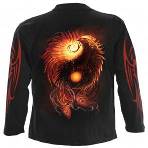 Phoenix arisen - T-shirt homme fantasy - Manches longues