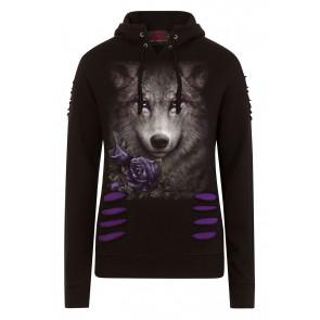 Wolf roses - Sweat shirt loup - Femme - Spiral