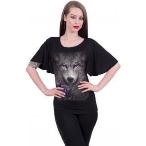 Wolf roses - T-shirt femme - Loup - Spiral
