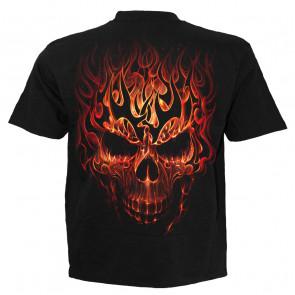 Skull blast - T-shirt enfant crane et flammes - Spiral