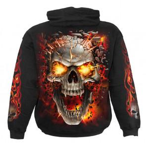 Skull blast - Sweat shirt enfant - Crane flamme - Spiral