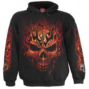 Skull blast - Sweat shirt homme - Crâne flamme