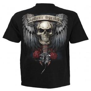 Unspoken - T-shirt homme rock guitare - Spiral