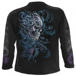Rococo skull - T-shirt dark gothic - Homme - Manches longues