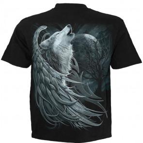 Wolf spirit - T-shirt loup ailée - Homme - Spiral