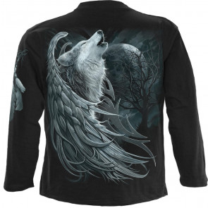 Wolf spirit - T-shirt loup fantasy - Homme - Manches longues - Spiral