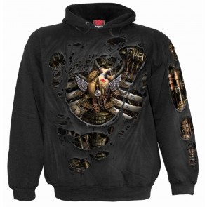 Steam punk ripped - Sweat shirt homme - Spiral