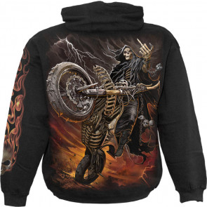 Bike life - Sweat shirt homme - Faucheuse squelette - Moto - Motard