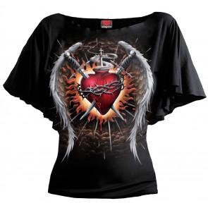 boutique tee shirt rock gothic romantique femme sacred wings tatooo