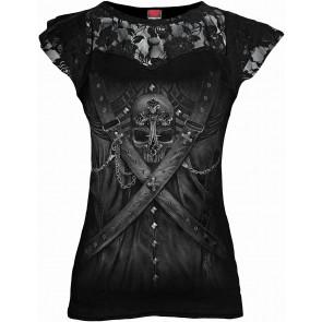 Strapped - T-shirt femme gothique