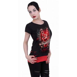 Live loud - T-shirt femme - Rock - Manches courtes