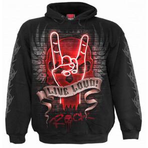 Live loud - Sweat shirt rock dark metal - Homme