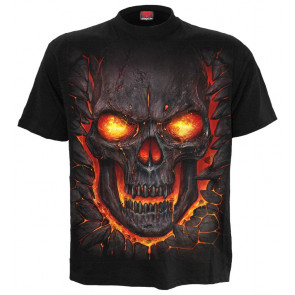 boutique vetement vente tee shirt dark fantasy gothique skull lava