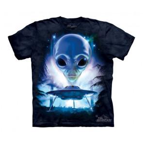 Just visiting - T-shirt enfant - Extra terrestre soucoupe volante Alien