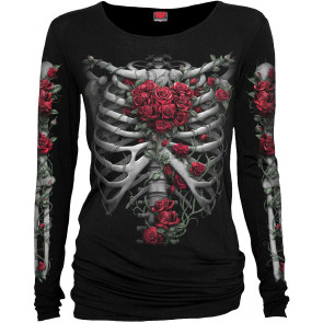Rose bones - Tee-shirt femme gothique - Spiral