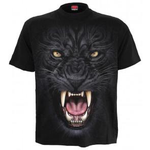 boutique vente tee shirts motif panthère noire tribal motif