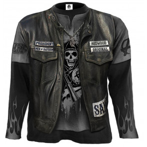 Boutique merch serie tv sons of anarchy tee shirt manches longues jax