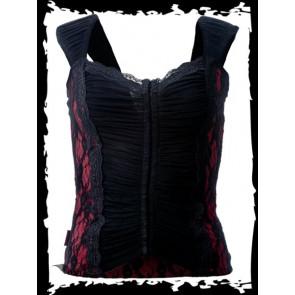 Black top - vêtement femme - Queen of darkness- TAILLE PETIT