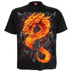 boutique vente tee shirts de dragon - FIRE DRAGON - Spiral