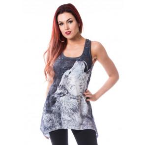 tee shirt débardeur femme motif loup boutique vente vetement
