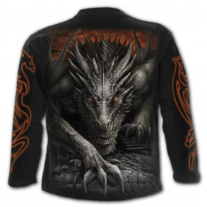 Majestic draco - Tshirt homme dragon - Manches longues - Spiral