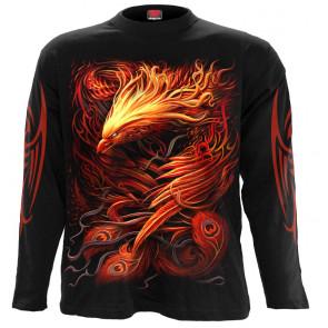 Boutique vetement motif fantasy marque spiral phoenix arisen manches longues