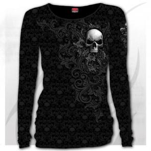 Skull scroll - T-shirt femme gothic romantique - Spiral