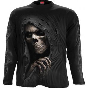 Boutique vente tee shirt motif la faucheuse manches longues grim ripper