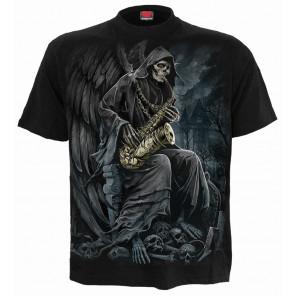 Boutique vetement tee shirt reaper blues la faucheuse manches courtes boutique spiral