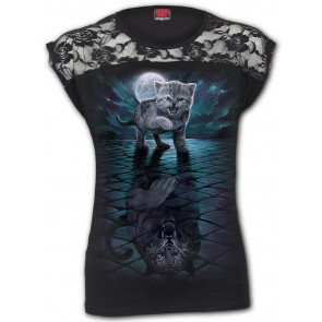 Wild side - T-shirt femme chat tigre - Manches courtes
