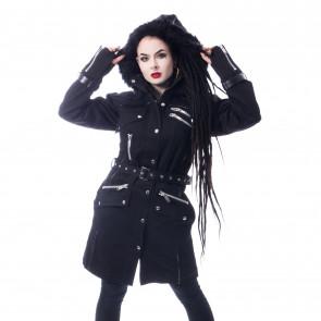 Manteau Rock Gothic femme - Verse coat - Chemical black