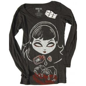 Deadly rose - T-shirt femme gothique ML - Akumu Ink